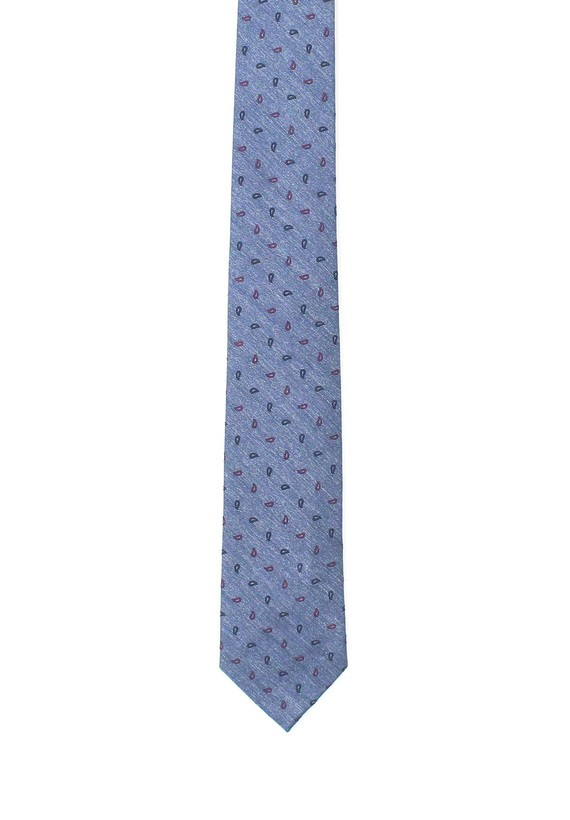 Corbata azul con amebas en marino - marinho