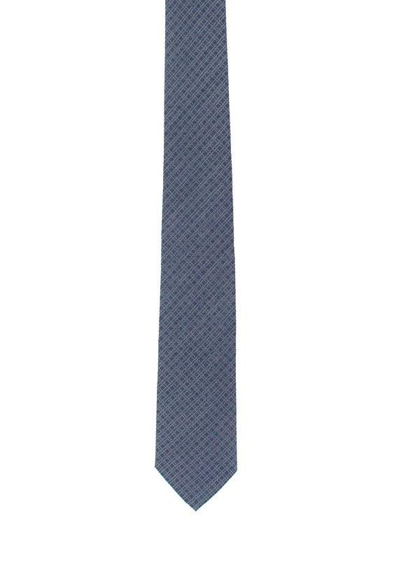 Corbata marino con fantasía - Marino
