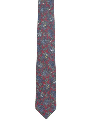 Corbata roja con estampado de amebas
