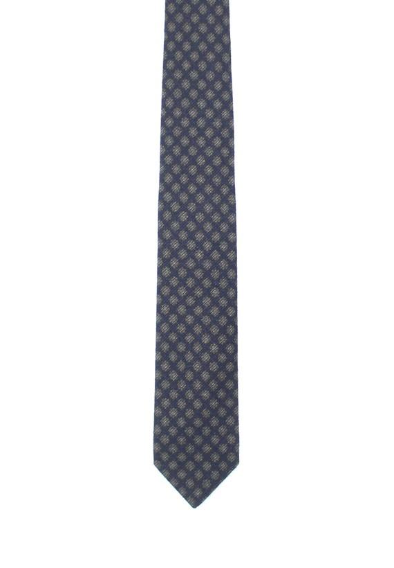 Corbata marino con estampado geométrico