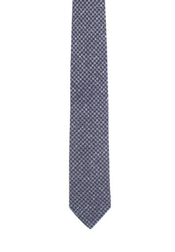 Corbata marino con cuadros blancos.