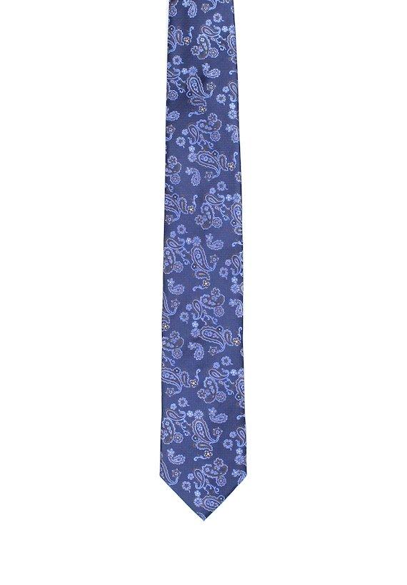 Corbata vestir estampada - Azul