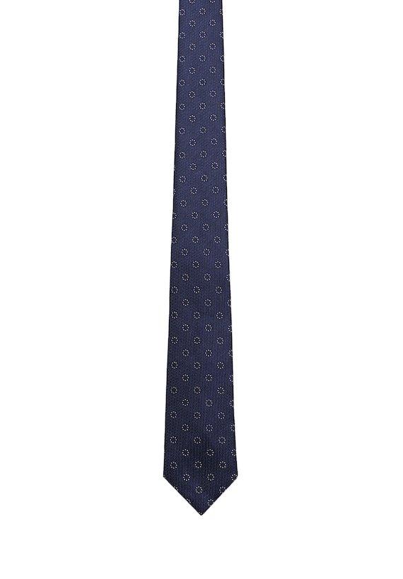 Corbata de circulos blancos - marinho