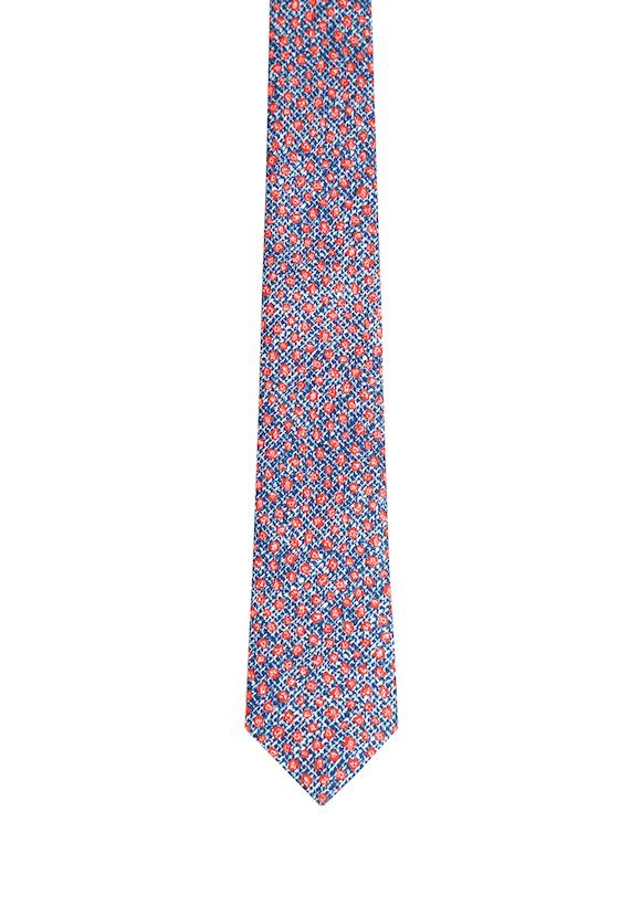 Corbata estampado floral - Vermelho