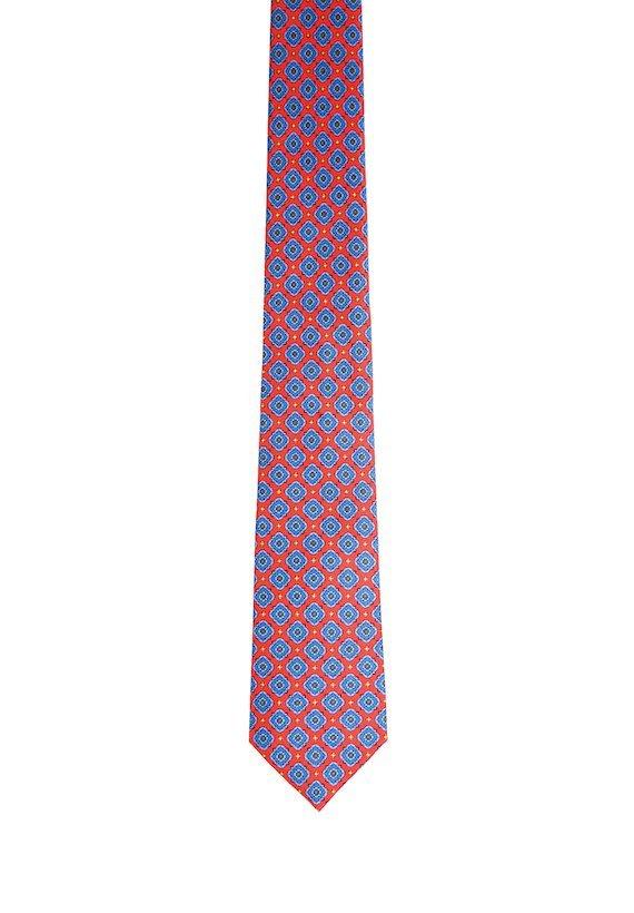 Corbata estampado geométrico - Rojo