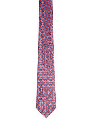 Corbata estampado geométrico