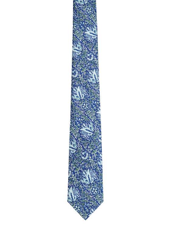 Corbata estampado amazónico - Azul