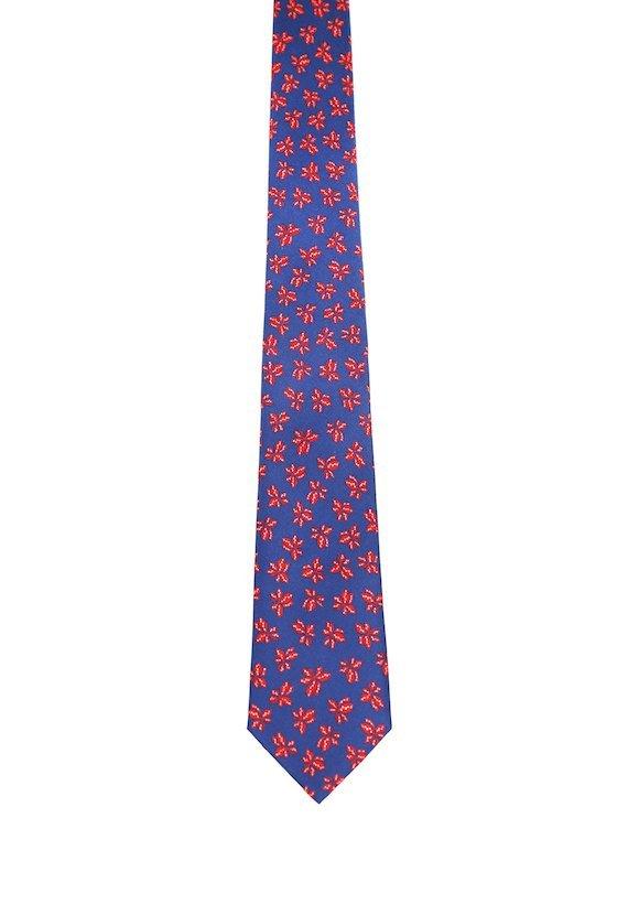 Corbata estampado flores - Vermelho