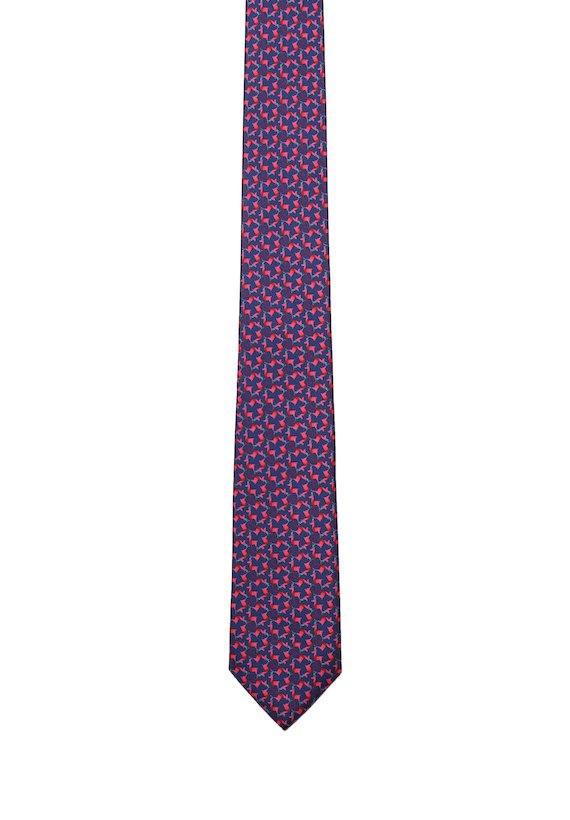Corbata estampado renos - Vermelho