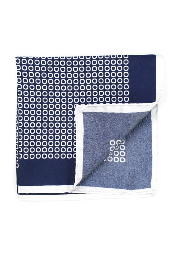 Pañuelo de bolsillo estampado círculos - marinho