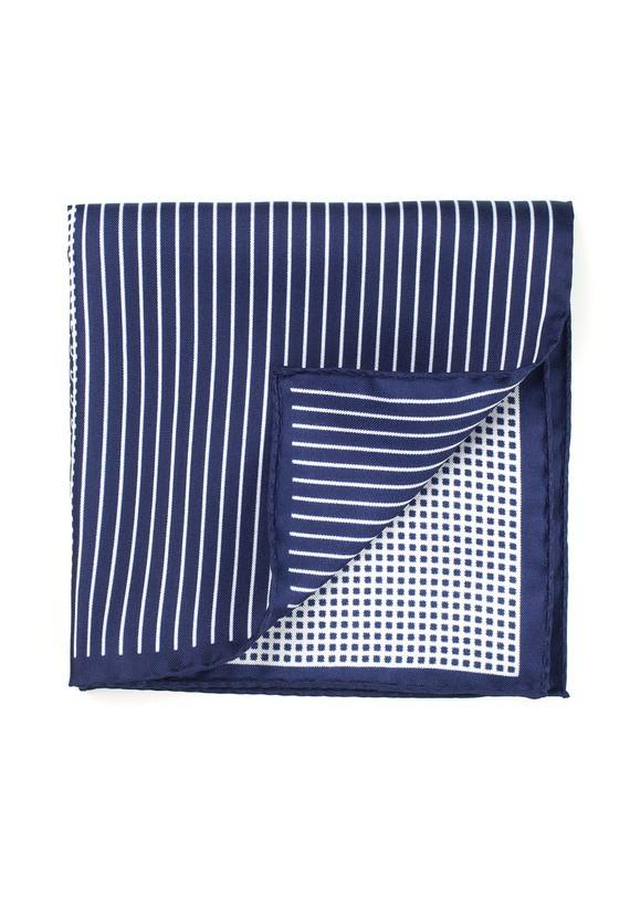 Pañuelo de bolsillo estampado patchwork - Marino