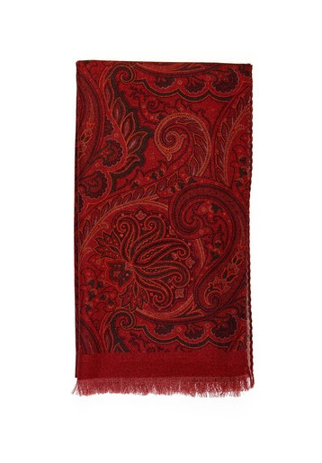 Foulard lana cashmere granate