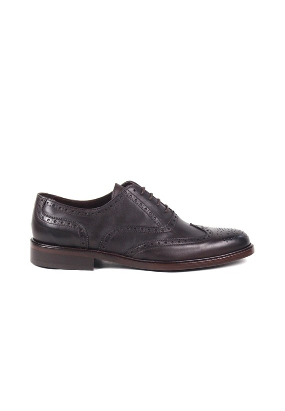 Zapato Oxford tipo full-brogue - Marron