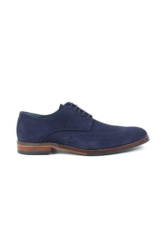 Zapato full-brogue de serraje