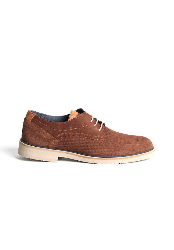 Zapato piel de serraje