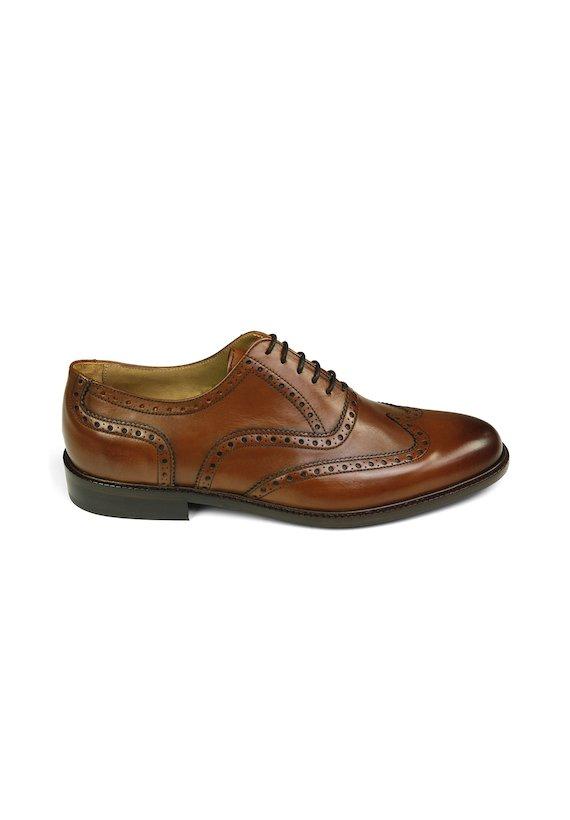 Zapato de piel - Castanho