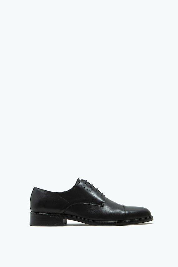 Zapato Oxford de piel - Negro