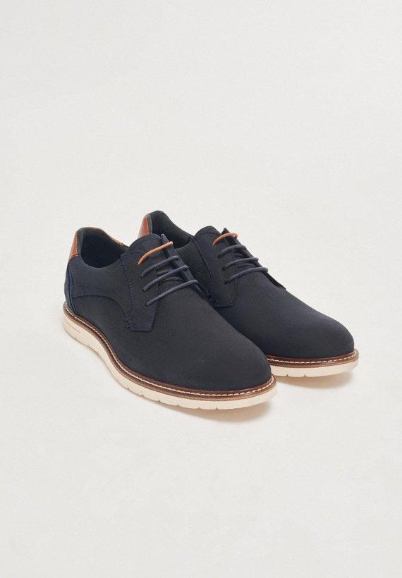 Zapatos piel de serraje