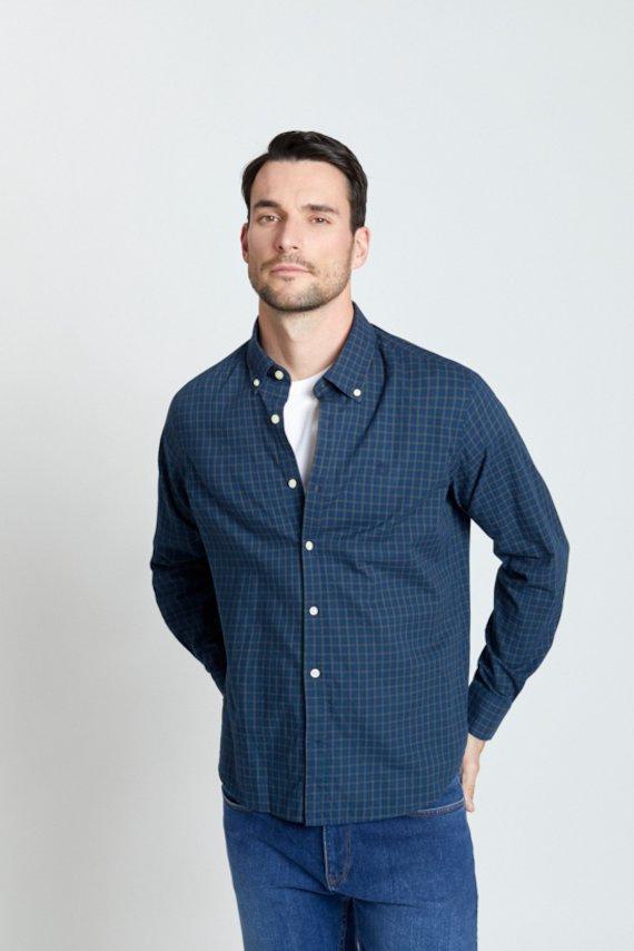 Camisa slim de cuadros - Marino