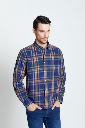 Camisa regular fit cuadors azul