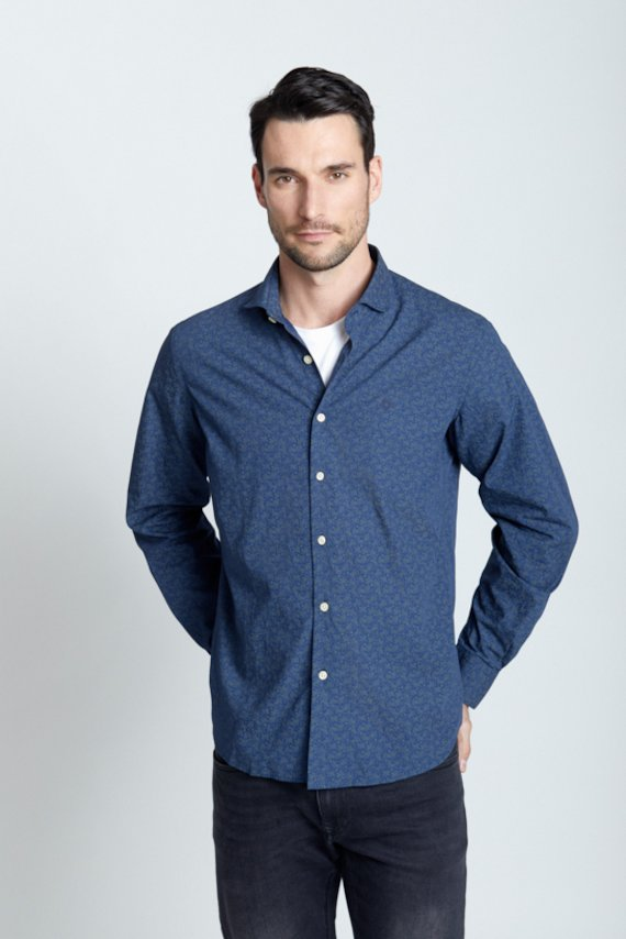 Camisa slim fit fantasia