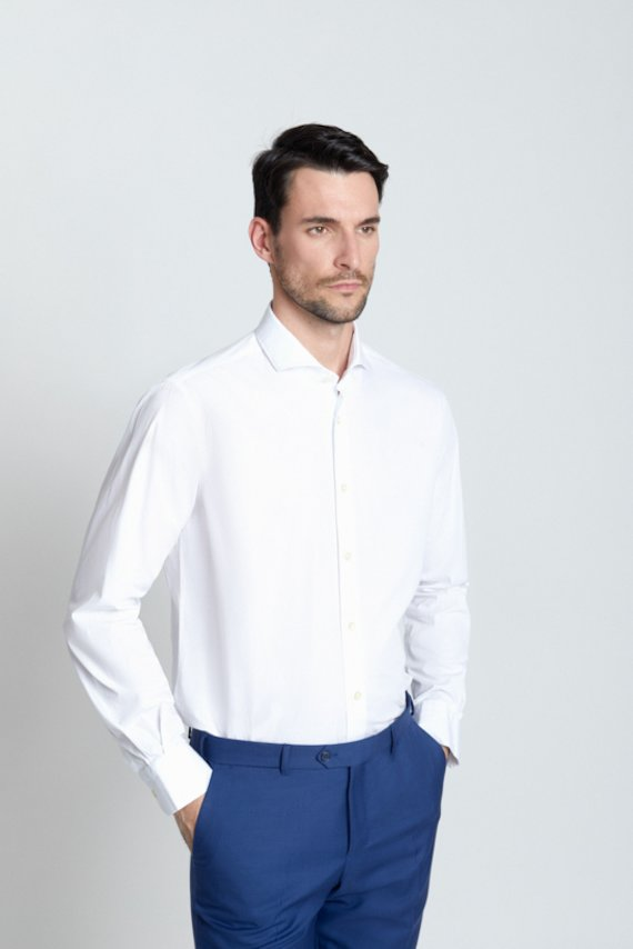 Camisa regular fit vestir - Blanco