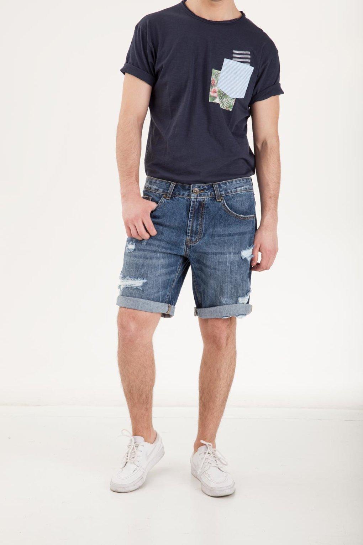 Men's Shorts Denim Distressed