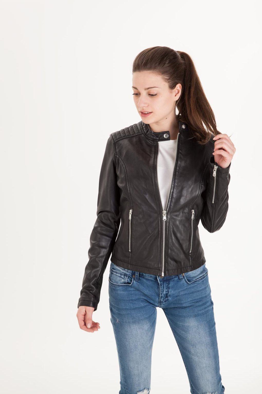 Women's Leather Jacket Biker