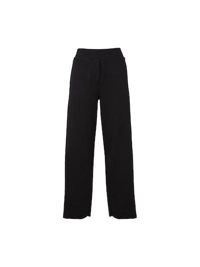 Fluid trousers with elastic waist