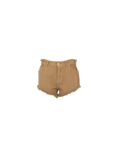 Raw cut denim shorts