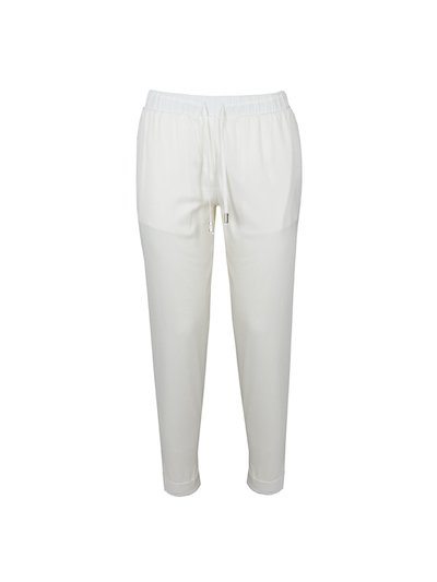Fluid trousers with elastic waist and drawstring