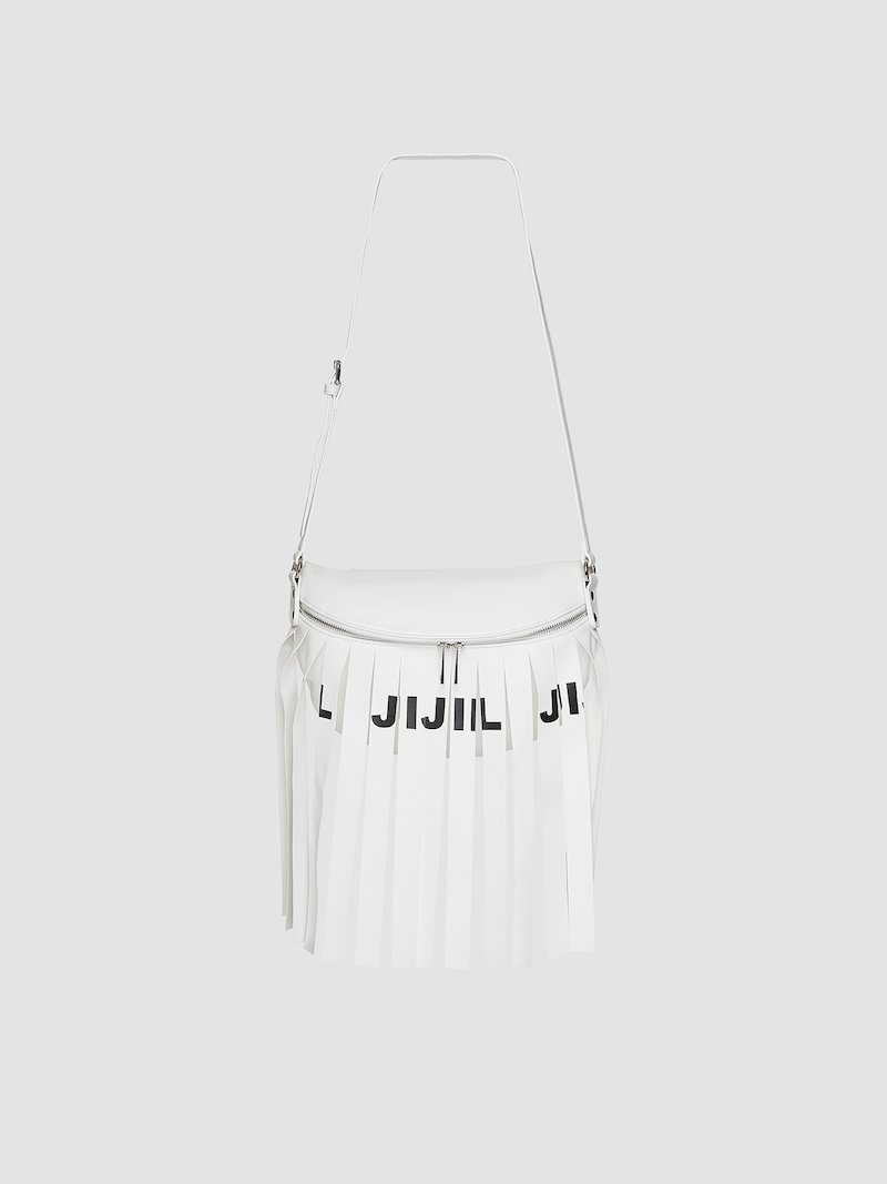 Bicolor bag with fringes