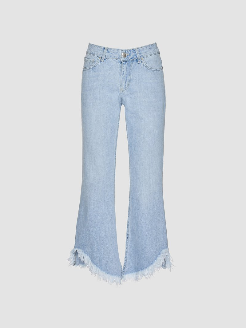 Flared trumpet denim