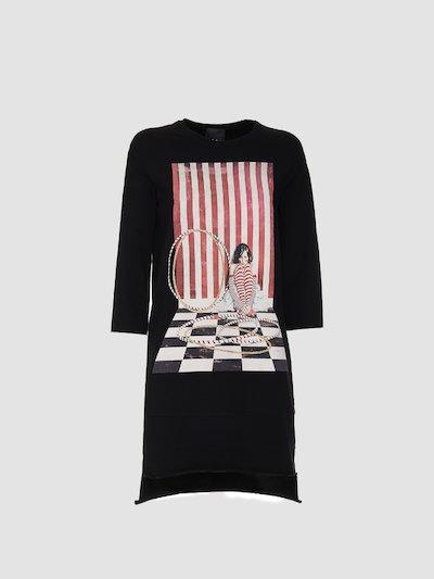 Dress with circus print