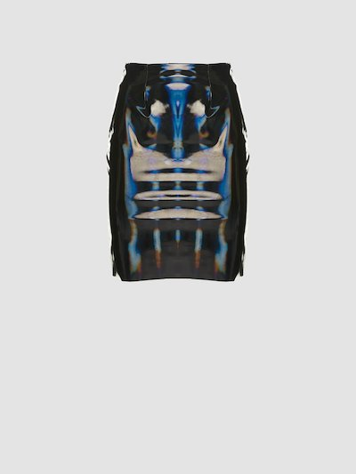 Vinyl sheath skirt