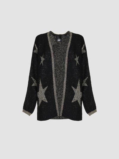 Cardigan with stars decoration