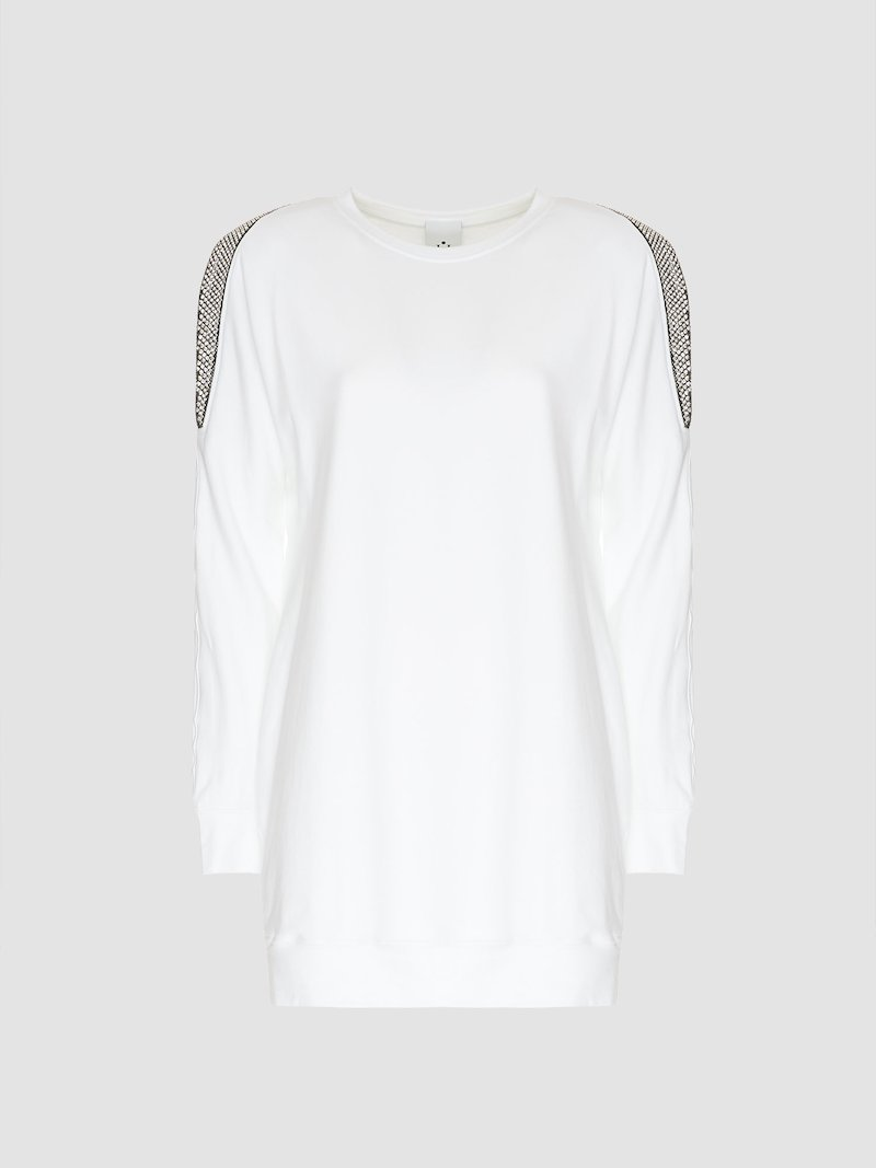 Maxi sweatershirt with glitter detail