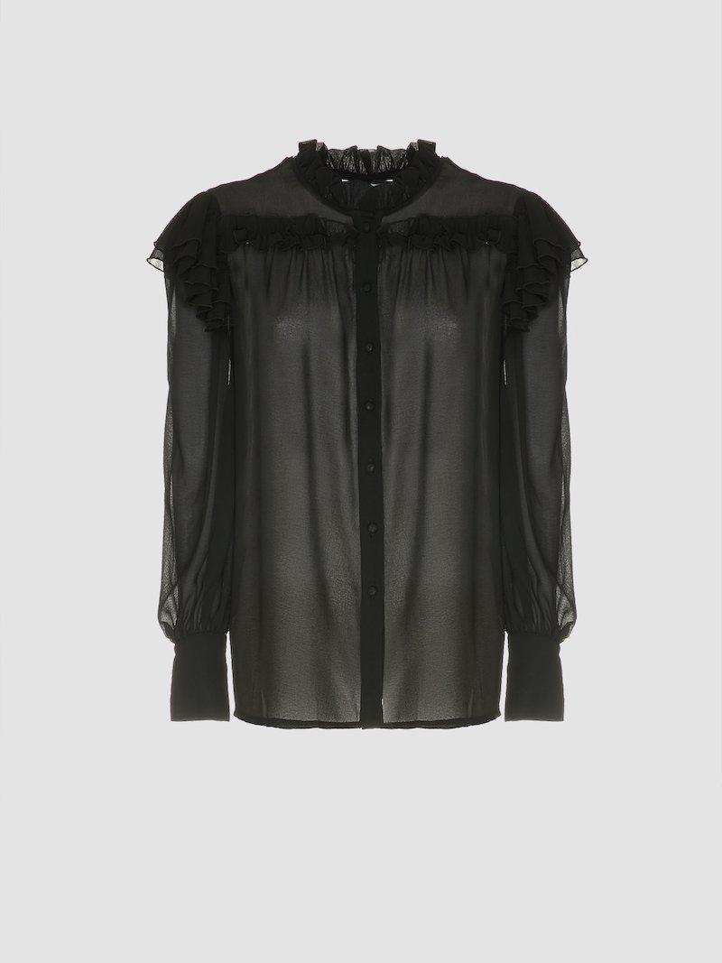 Transparent long-sleeved shirt