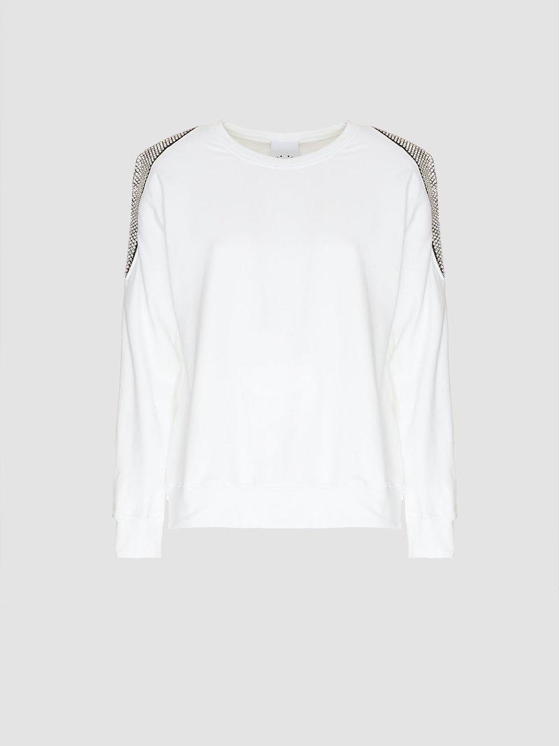 Crew neck sweatshirt with shoulders