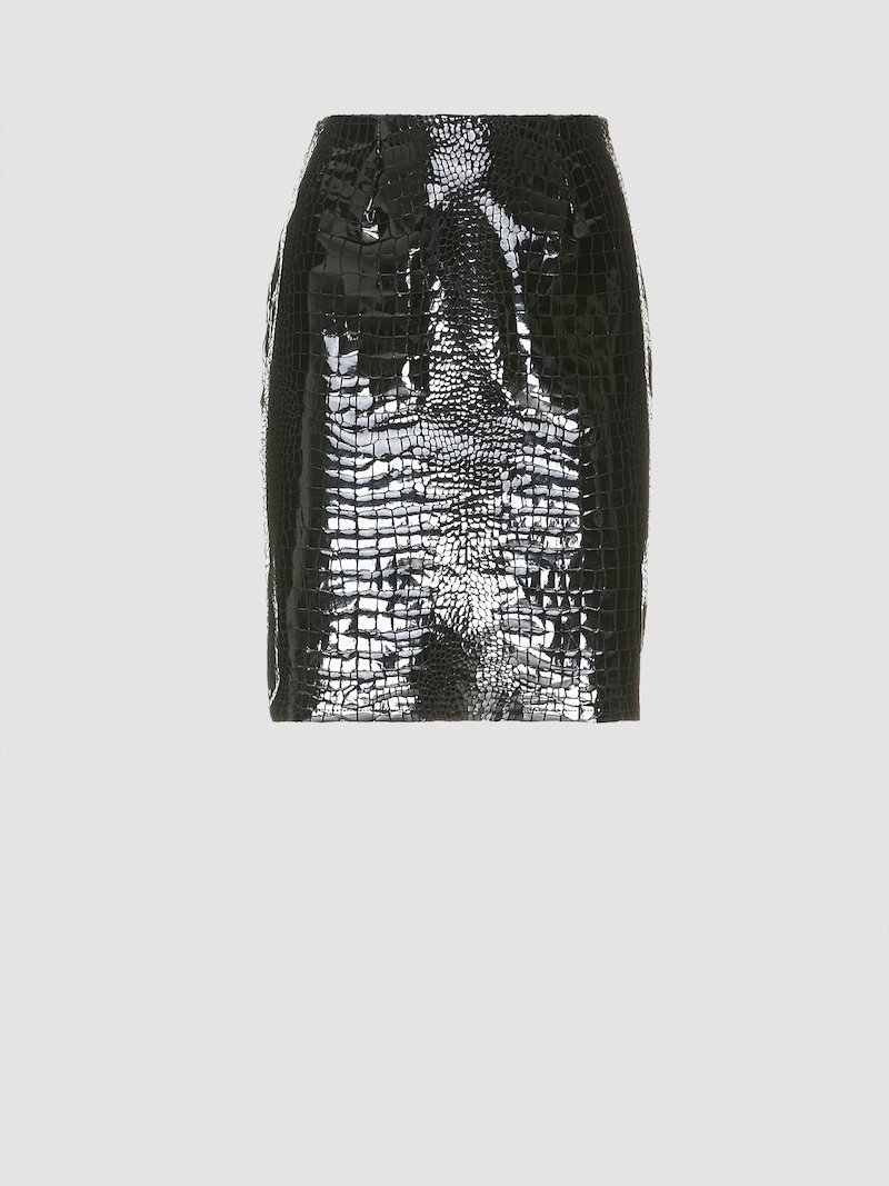 Short python-effect skirt