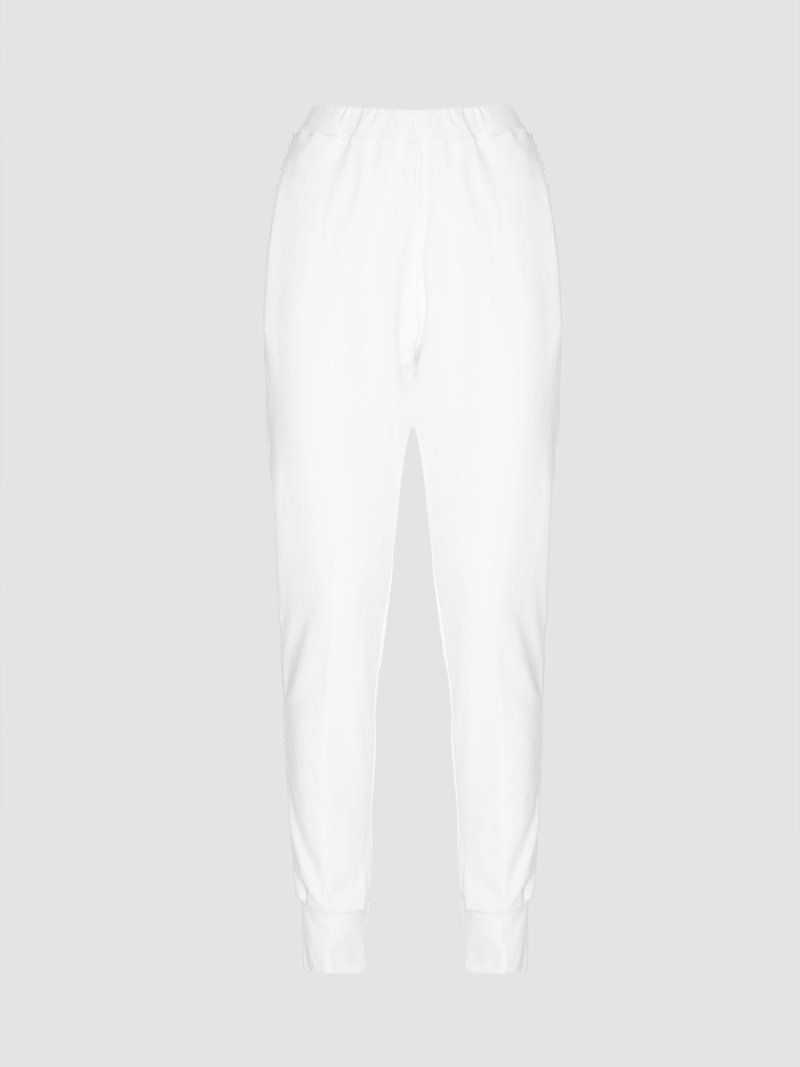 Long elastic trousers