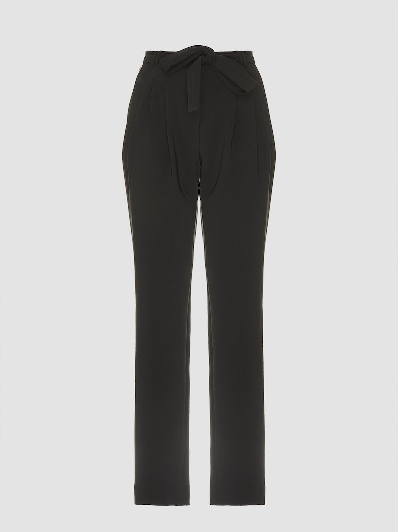 Trousers with bow detail