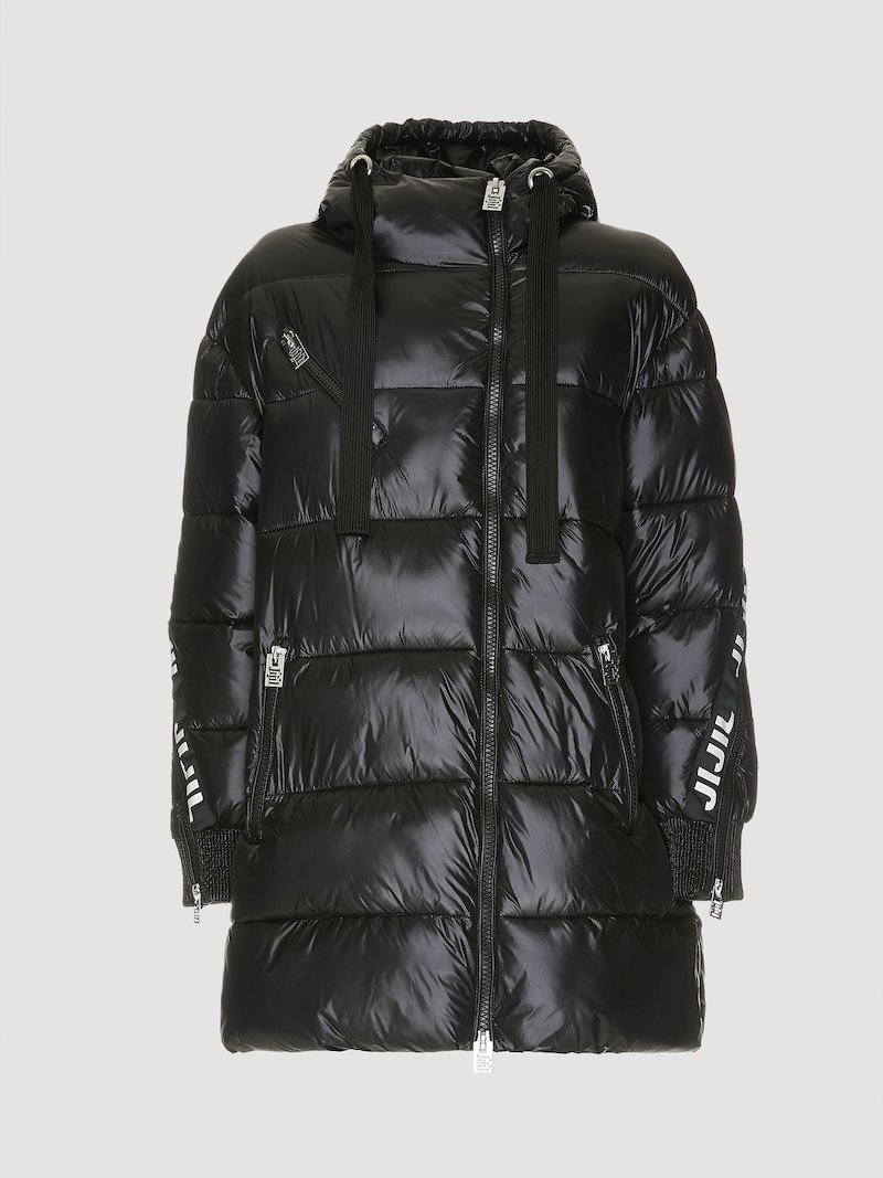 Black quilted jacket with side Jijil bands