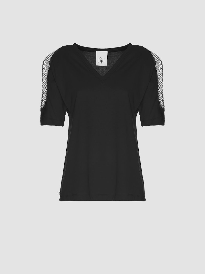 T-shirt with side shoulders