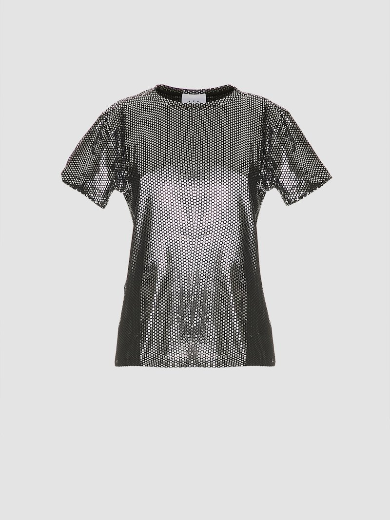 Black and silver t-shirt