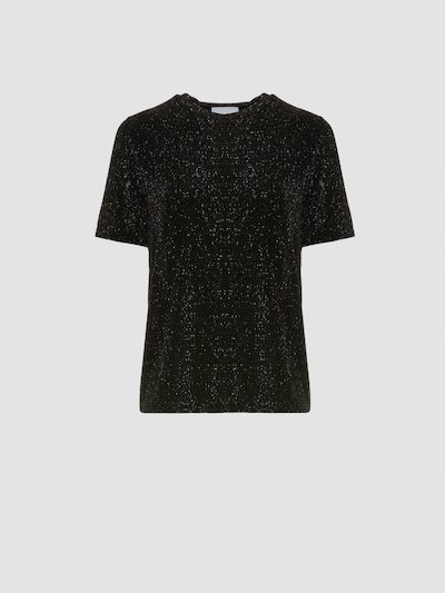 Black t-shirt with glitter
