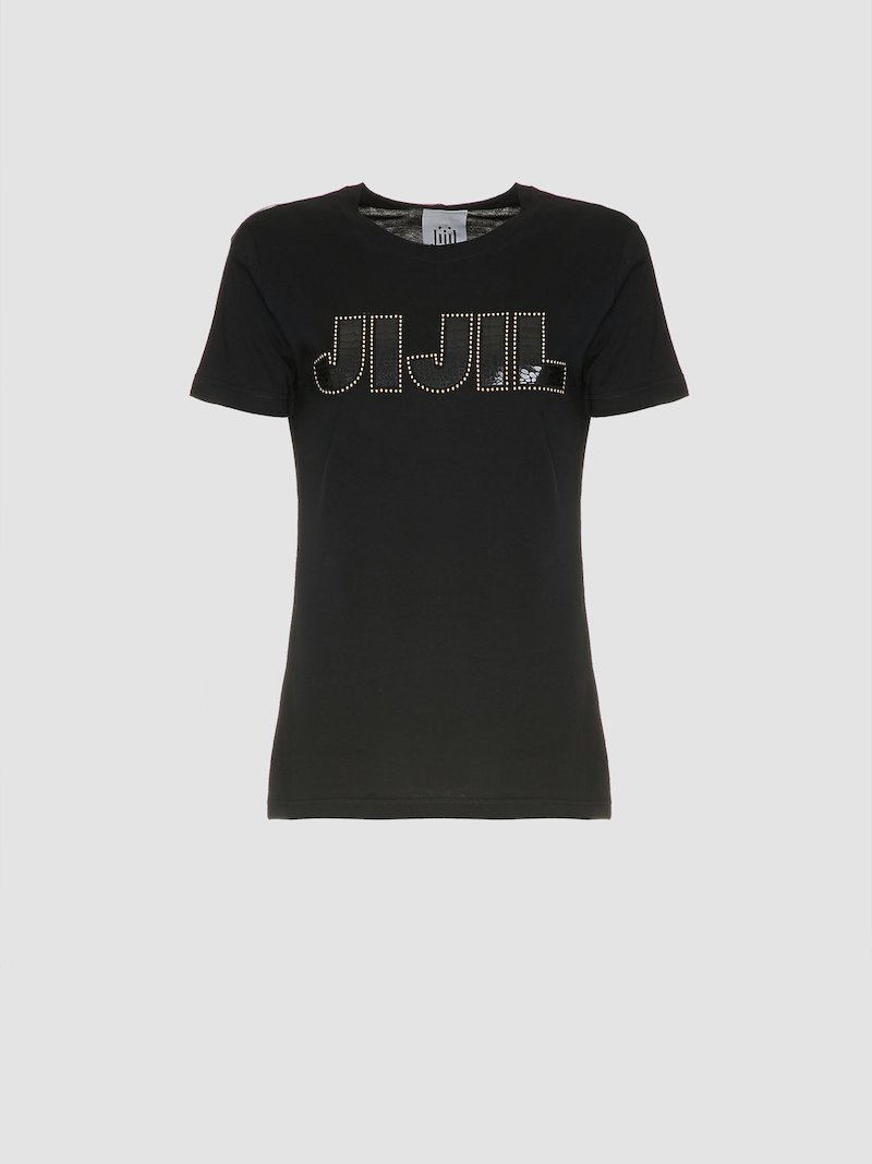 Black t-shirt with the logo Jijil