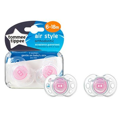 Tommee Tippee 6-18m Closer to Nature Air Style Soothers 2pk - Pink