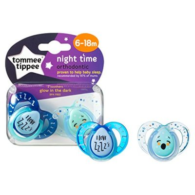 Tommee Tippee 6-18m Closer to Nature Night Time Soothers 2 pack