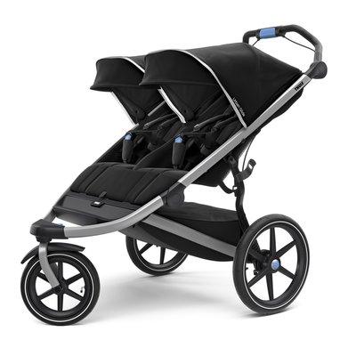 Thule Urban Glide 2 Double Stroller - Black/Aluminum
